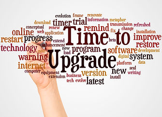 Time to Upgrade word cloud and hand with