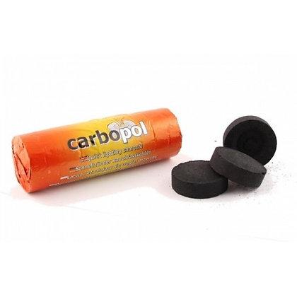 """Уголь""""Carbopol""""40мм (10 таб)быстро разжигающийся"""