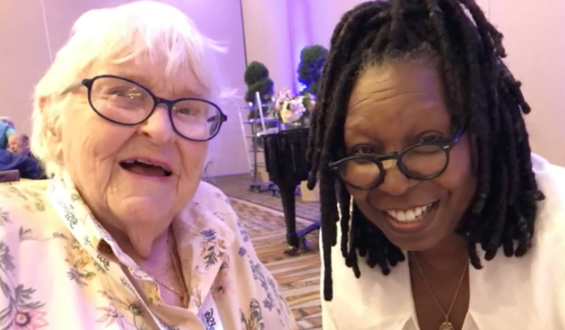 Ruthie Tompson and Whoopie Goldberg