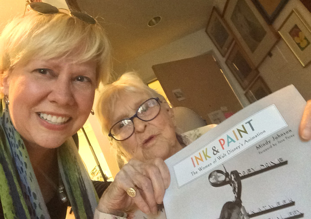"""Mindy Johnson and Ruthie Tompson with """"Ink & Paint – The Women of Walt Disney's Animation"""""""
