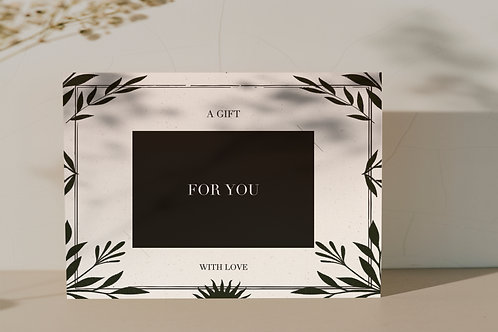Giftcard ''For you''