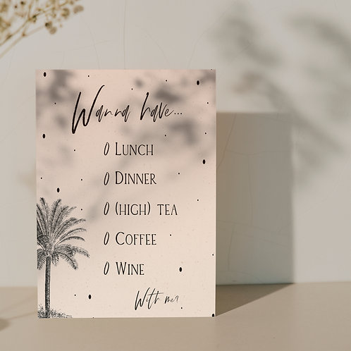 Giftcard ''Palmtree''