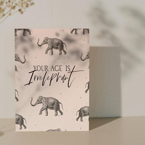 XL kaart ''Elephant''
