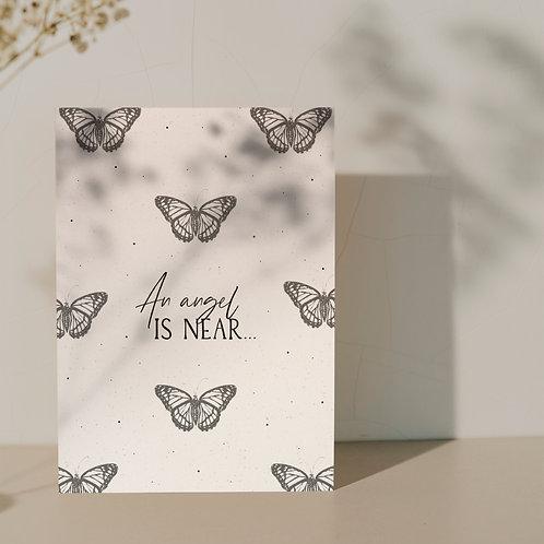 XL rouwkaart ''Butterfly''