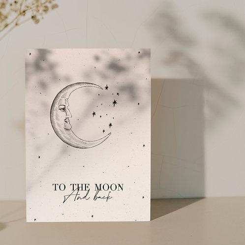Kaart ''To the moon''