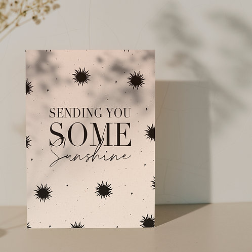 Kaart ''Sending you sunshine''