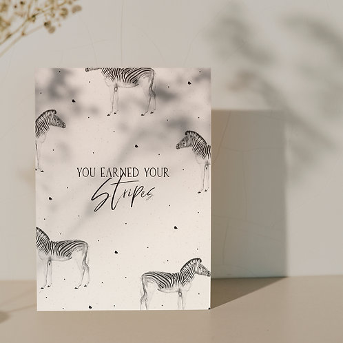 Ansichtkaart ''Zebra''