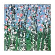 Birch trees 3 palette knife.jpg