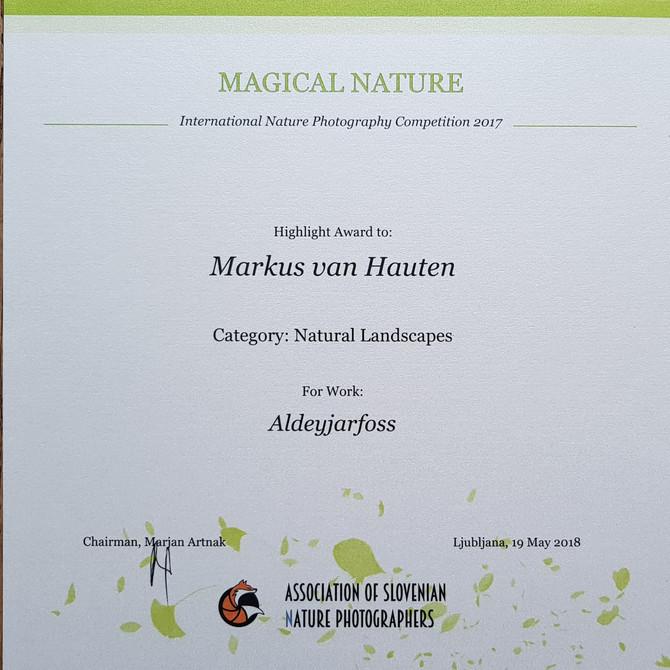 Award from Slovenenia