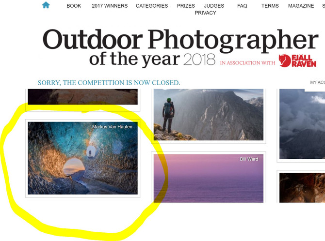 "Shortlisted at ""Outdoor Photographer of the year 2018"""