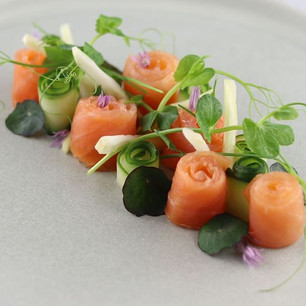 Smoked salmon, fennel & herb salad...not