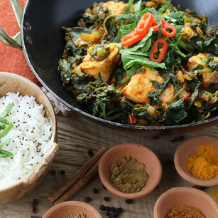 Salmon & spinach curry. Another quick &
