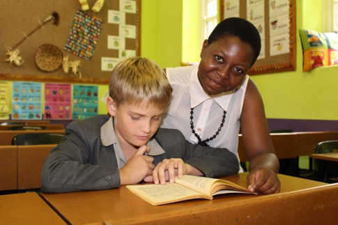 Faith Ralane teaching at St John's Prep