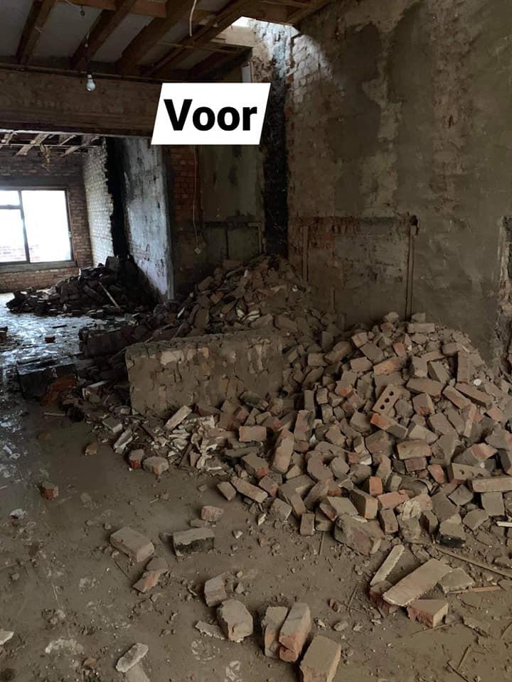 Renovatie rijhuis in Sint-Gillis-Dendermonde - voor