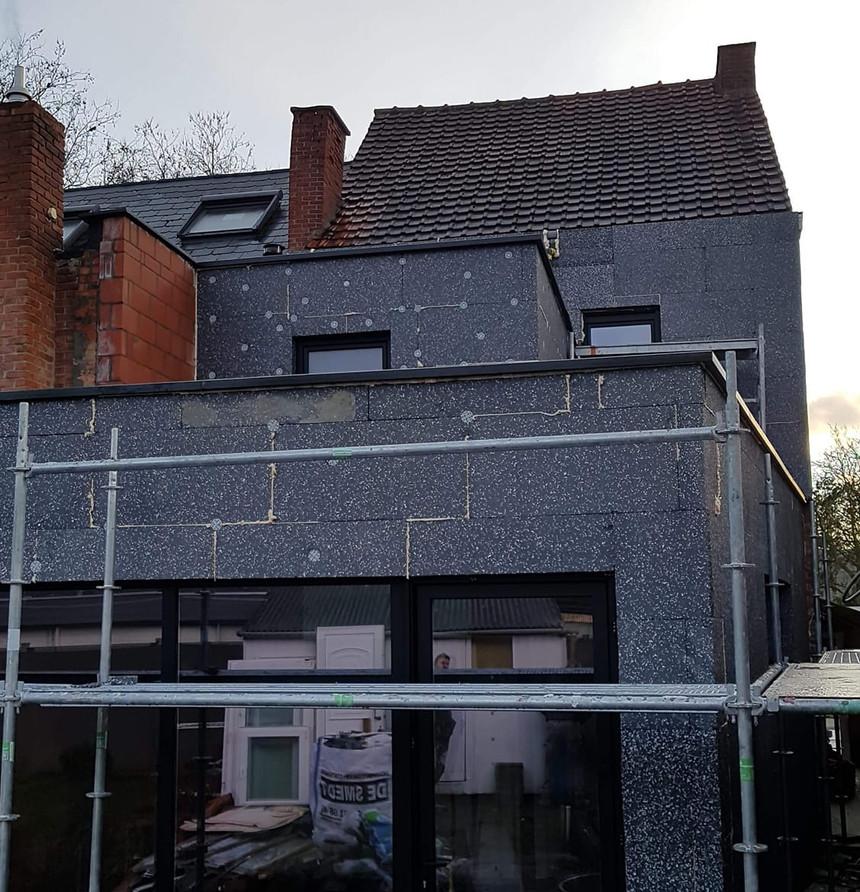 crepi renovatie Sint-Gillis - tijdens: isolatie