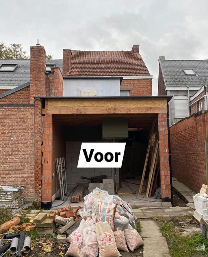 crepi renovatie Sint-Gillis - voor