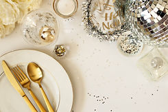 Modern and elegant New Year's Eve table