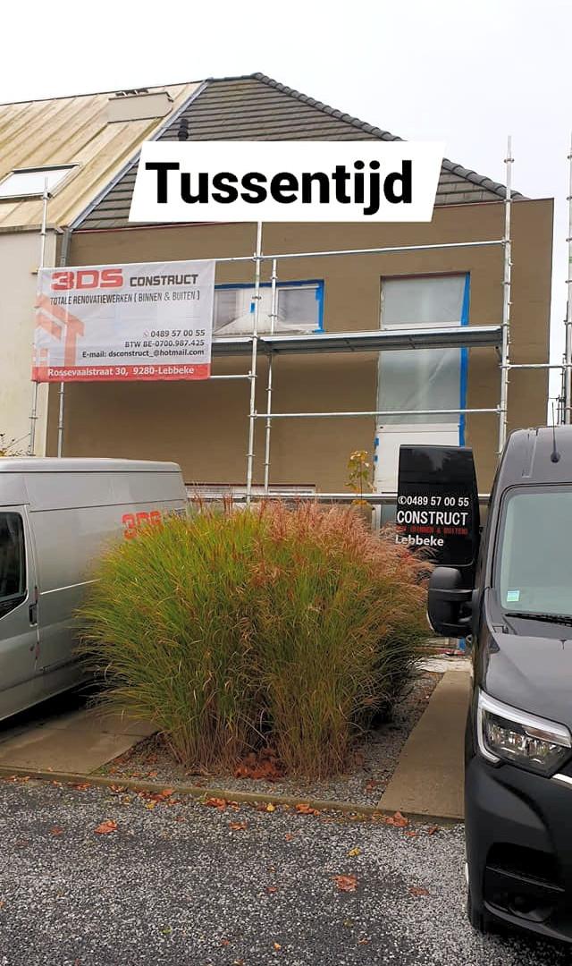 nieuw crepiproject in Meise - tijdens