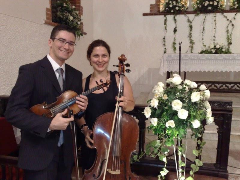 Violinista Thiago Bernardes e Violoncelista Gabriela Sepulveda - Casamento realizado na Igreja Presbiteriana Betânia de Icaraí
