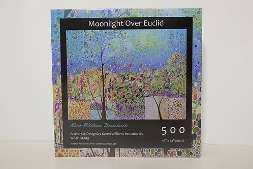 500 Jigsaw Puzzle: Moonlight Over Euclid