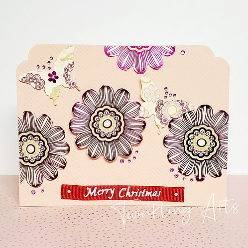 Merry Christmas Floral Card