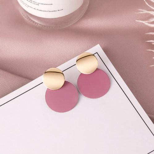 Stunning Vintage Round Pink Earrings
