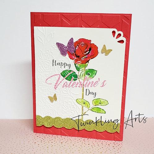 Happy Valentine's Day (Rose) Card