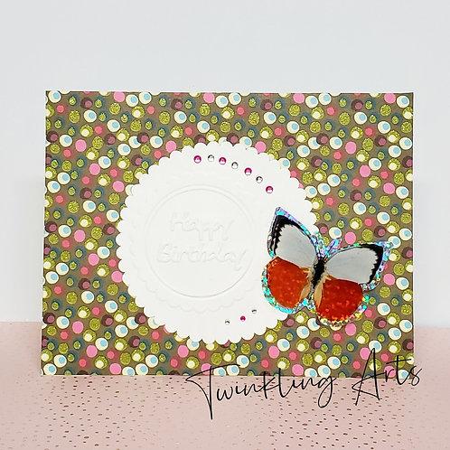 Happy Birthday Butterfly Card