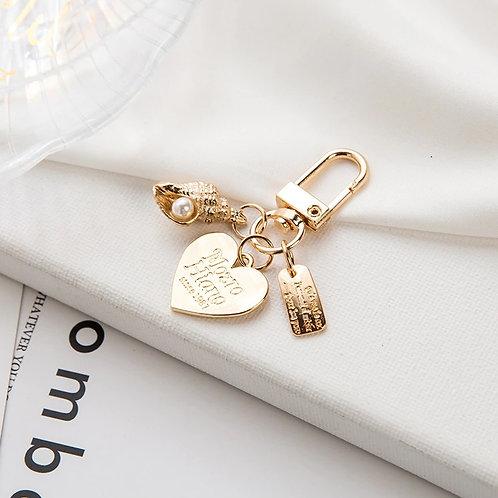 Lovely Petite Korean Heart Key Chain_Design 3