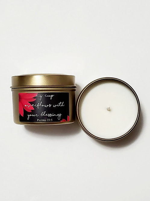 My Cup Overflows candle - White Sage Lavender Scent