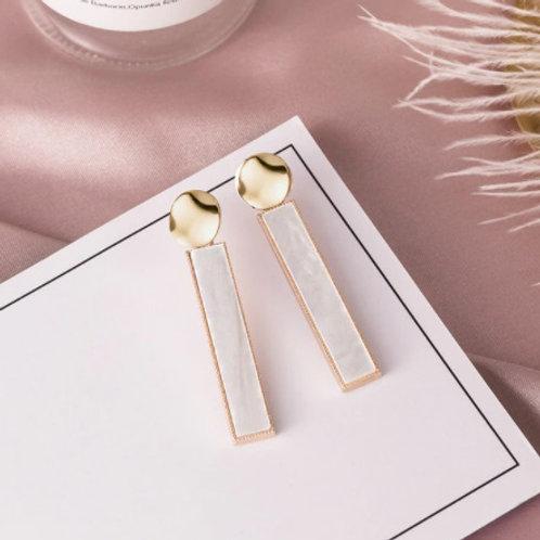 Stunning Long White Earrings