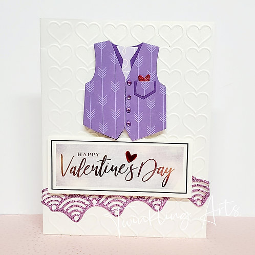 Happy Valentine's Day (Light Purple Vest) Card