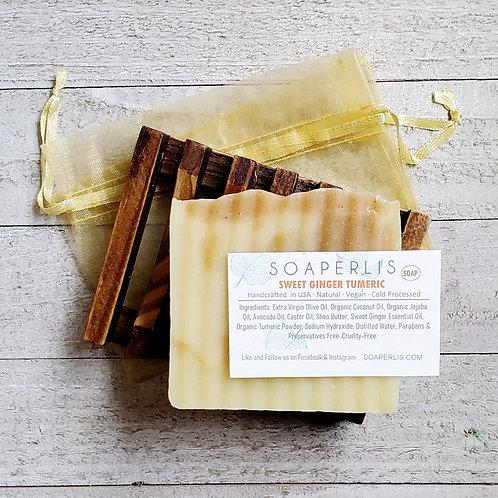 Sweet Ginger Tumeric Herbal Soap