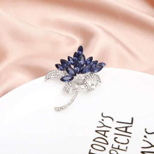 Elegant Brooch - Blooming Blue Jewels