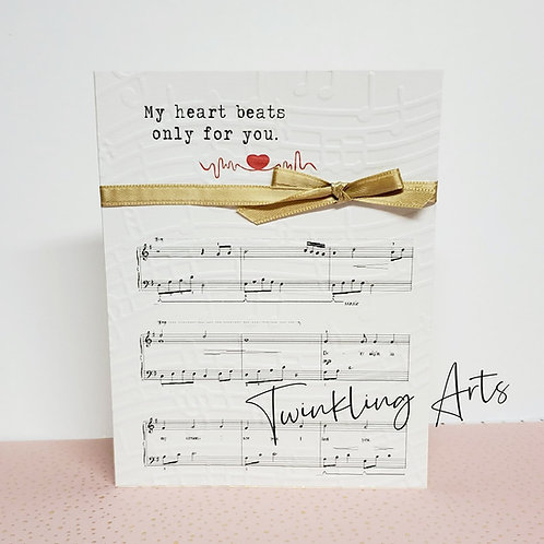My Heart Beats Only For You Card