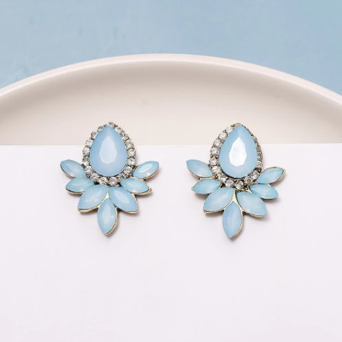 Blue Collections Exquisite Flower Earrings