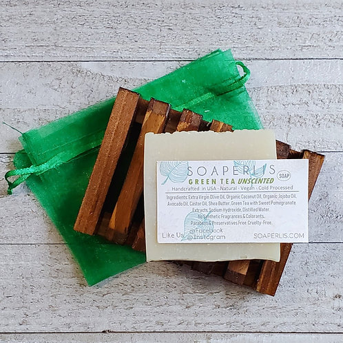 Promotes Anti-Aging Green Tea Unscented Soap