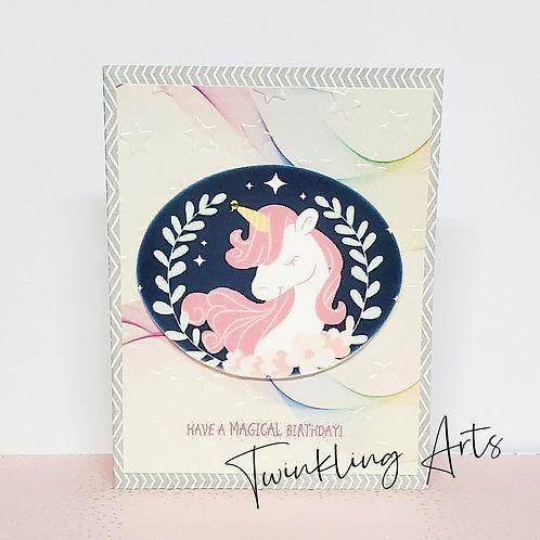 Have A Magical Birthday Grey Card