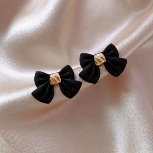 Bowknot Metal Women Trendy Stud Earrings