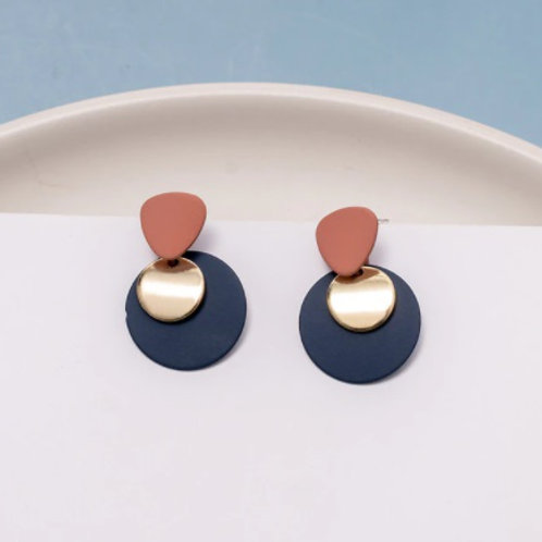 Blue Collections Acrylic Resin Drop Earrings