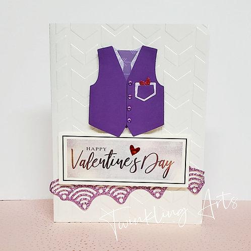 Happy Valentine's Day (Dark Purple Vest) Card