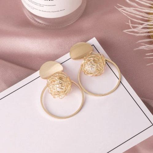Exquisite Golden Ball Earrings