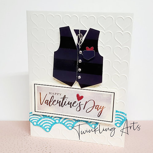 Happy Valentine's Day Vest Card