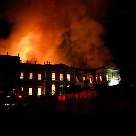 Segunda-feira, completa 1 ano do incêndio no Museu Nacional do Rio de Janeiro