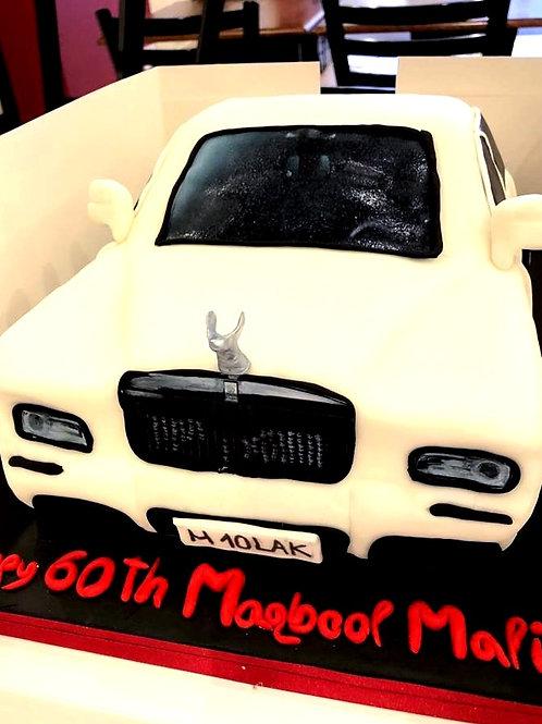Rolls -Royce Phantom Sculpted Car Fondant Sugarpaste Cake 15-20 ppl