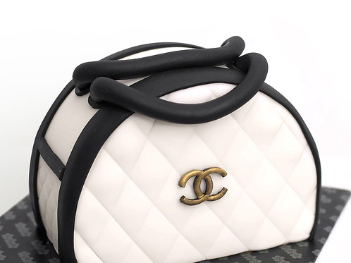 Chanel Bag Fondant Sugarpaste Cake 8'' 6-10 ppl