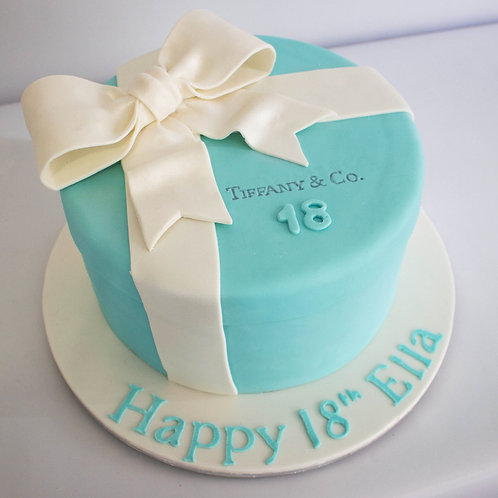 Tiffany Gift box Fondant Cake 6'' 6-10 ppl