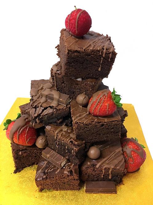 Stacked Chocolate Brownie Birthday Cake 10''