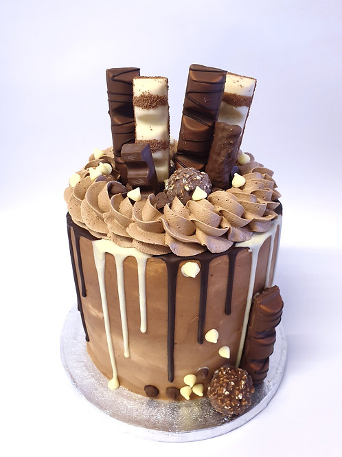 Chocolate Kinder Bueno Fully Loaded Drip Cake 6'' 6-12 ppl