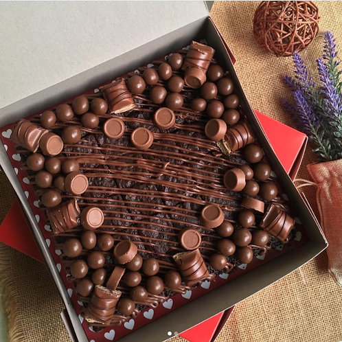 Chocolate Brownie Birthday Cake 10''